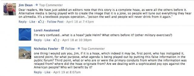Jim Dean comment