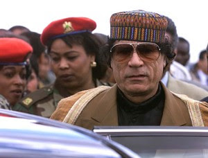 Libyan leader Muammar Gaddafi is fighting against an imperialist onslaught against his North African state. Gaddafi is a former chairman of the African Union and is an advocate for a unitary pan-african state on the continent. by Pan-African News Wire File Photos