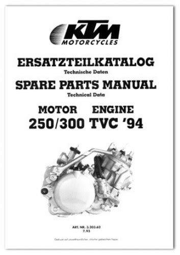 1994 KTM 250 300 TVC Engine Spare Parts Manual