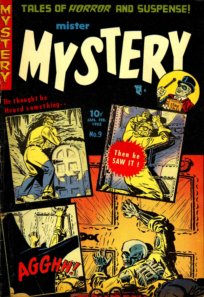 Mister Mystery #9 Werner Roth Cover (Magazines, Inc. 1953)