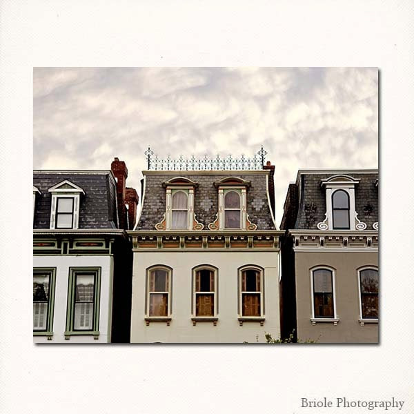 St Louis, Lafayette Square Photograph. Painted Ladies Architecture 8x10 Fine Art Print. Affordable Home Decor and Wall Art.