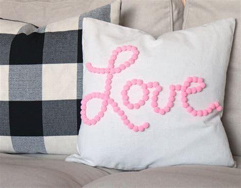 DIY Pom Pom Pillow: Love Themed   Consumer Crafts