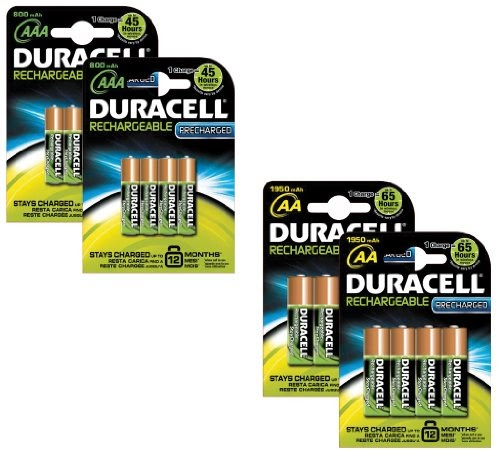 piles rechargeables duracell aa aaa pre charged pile. Black Bedroom Furniture Sets. Home Design Ideas