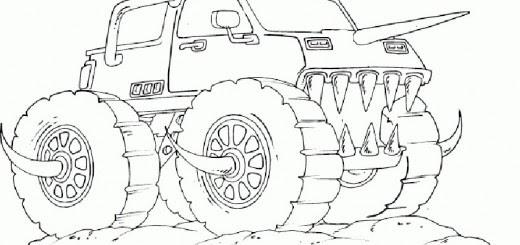 malvorlagen zum ausdrucken monster truck  malbild
