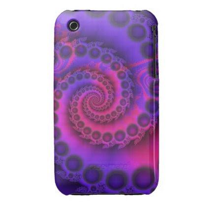 Hot Pink & Purple Spiral iPhone 3 3G/3GS case iPhone 3 Case