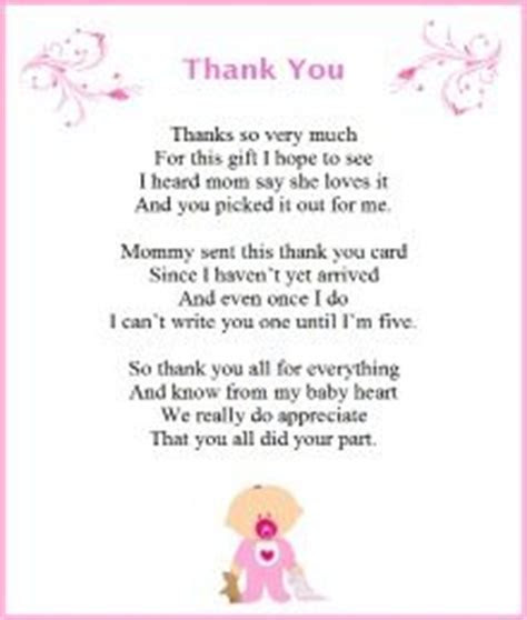 Baby Shower Thank You Poems From Baby.   Baby Shower in
