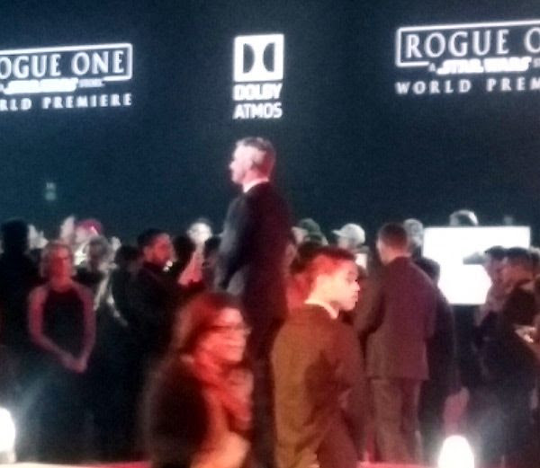 Alan Tudyk (K-2SO) at the red carpet event for the ROGUE ONE: A STAR WARS STORY premiere...on December 10, 2016.