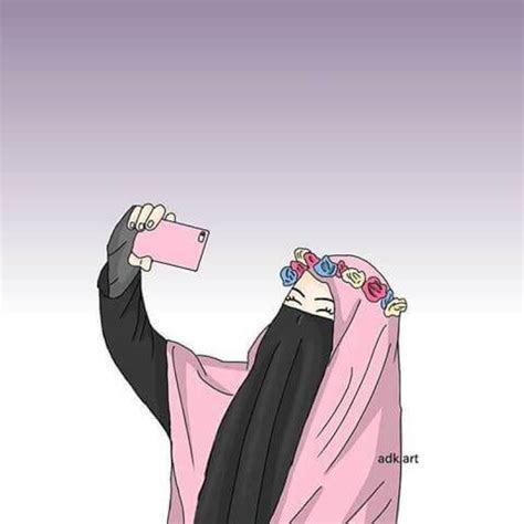 wallpaper muslimah bercadar animasi bestpictureorg