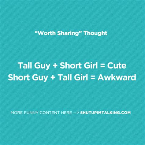 Tall Guys And Short Girls Quotes