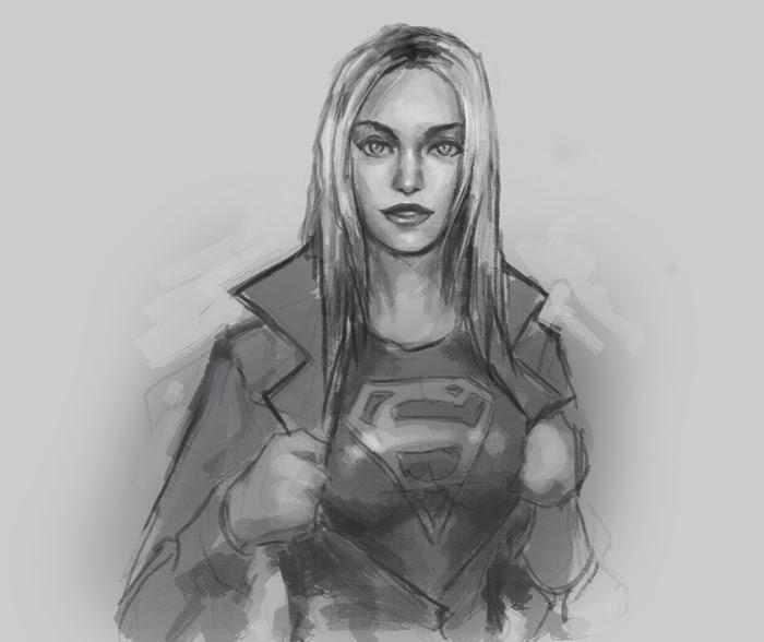 drawing supergirl