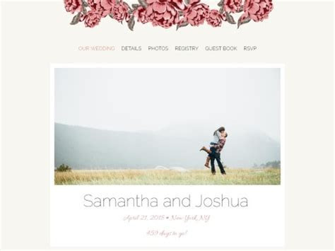 Free Designer Wedding Websites