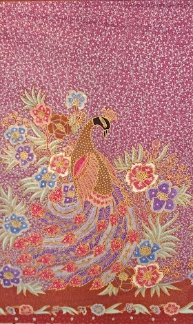 Gambar Sketsa Batik Merak