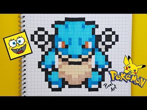 Téléchargez Et Imprimez Pixel Art Facile Pokemon Tortank