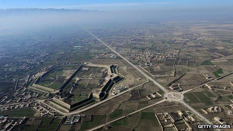 Aerial view of Mazar e Sharif