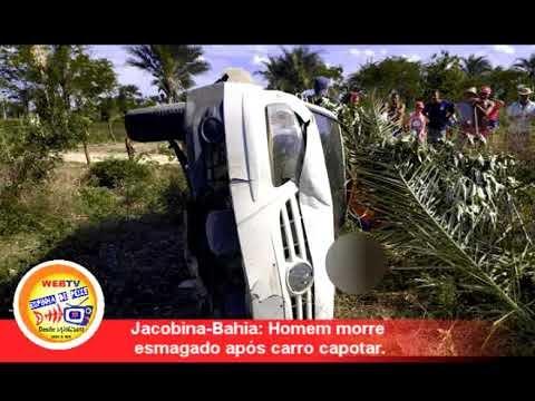 WEB TV ESPINHA DE PEIXE Jacobina-Bahia: Homem morre esmagado após carro ...