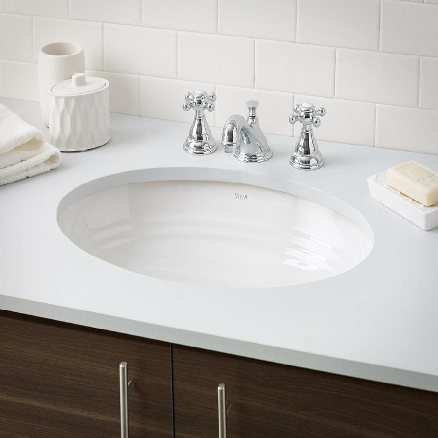 Cheviot Sienna Undermount Sink White Porcelain Undermount Oval Bathroom Sink With Overflow Drain 16 5 In X 23 13 In In The Bathroom Sinks Department At Lowes Com
