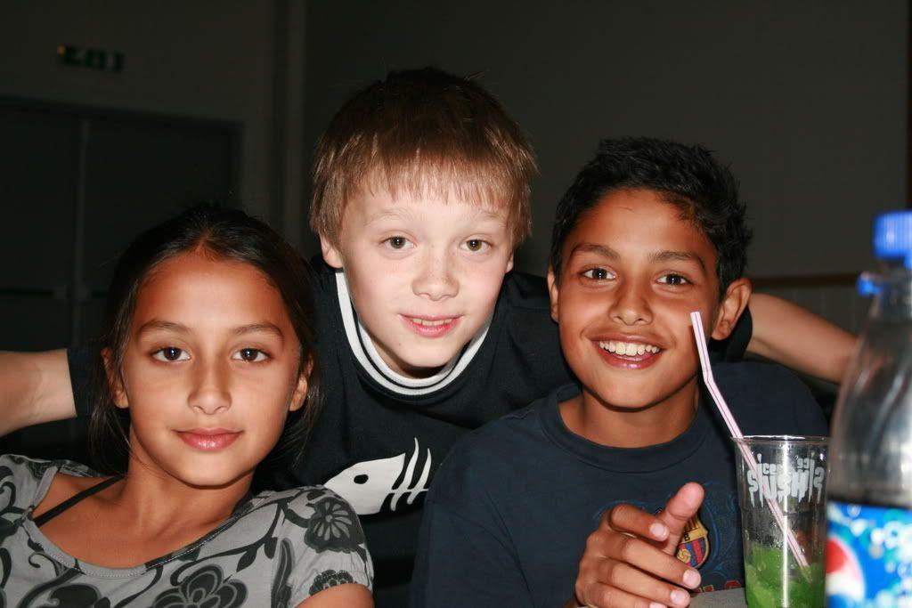 Kalyani, Mathias og Patrick