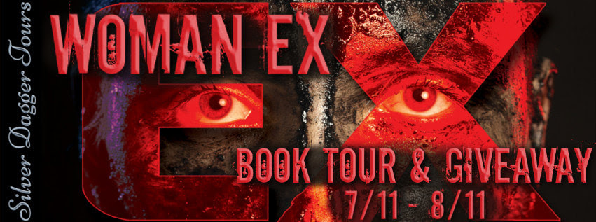 Book Tour Banner for the Sci Fi Thriller, Woman Ex, by Real Laplaine with a Book Tour Giveaway