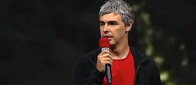 Larry Page alla conferenza degli sviluppatori