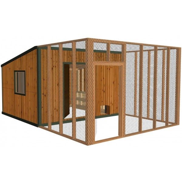 Hobby Chicken: Chicken Coop Plans For 20 Chickens Info