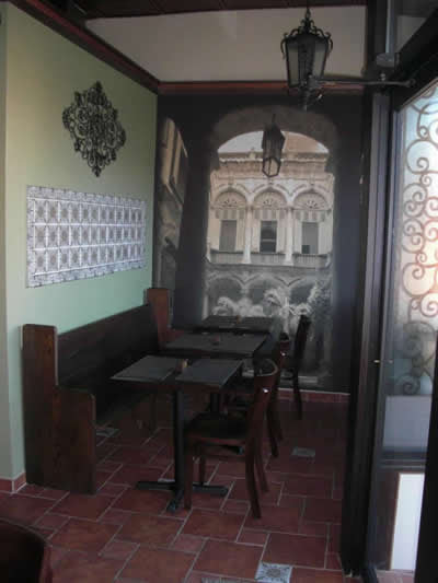 Spanish Tiles Create Ambiance at Cuban Cafe