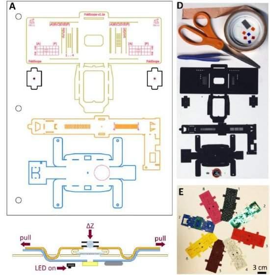 Microscópio de R$1 é impresso e montado como origami