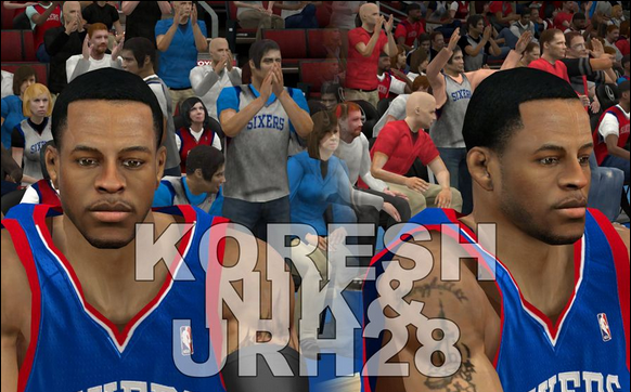 Download NBA 2K12 Philadelphia 76ers Cyberface Pack V2 - Enhanced Tattoos