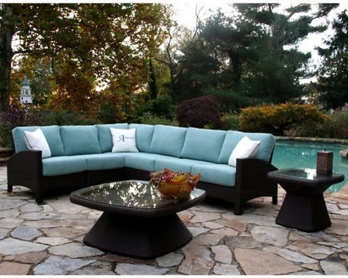 Anacara Atlantis All-Weather Wicker Sectional - Seats up to 7 ...