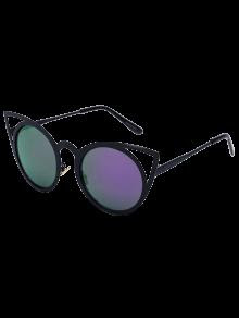 Gato negro de ojos Encanto espejo gafas de sol