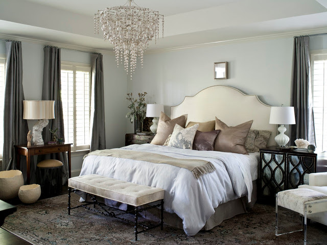 Hope Valley Refined  Transitional  Bedroom  raleigh  by Heather Garrett Design