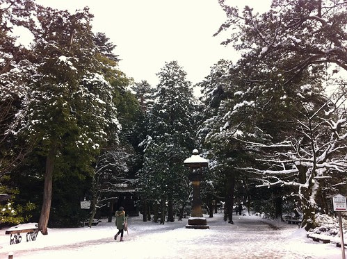 The courtyard of Oyama Shrine