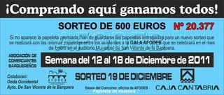 Campaña de Navidad - Sorteo del 19 de diciembre de 2011