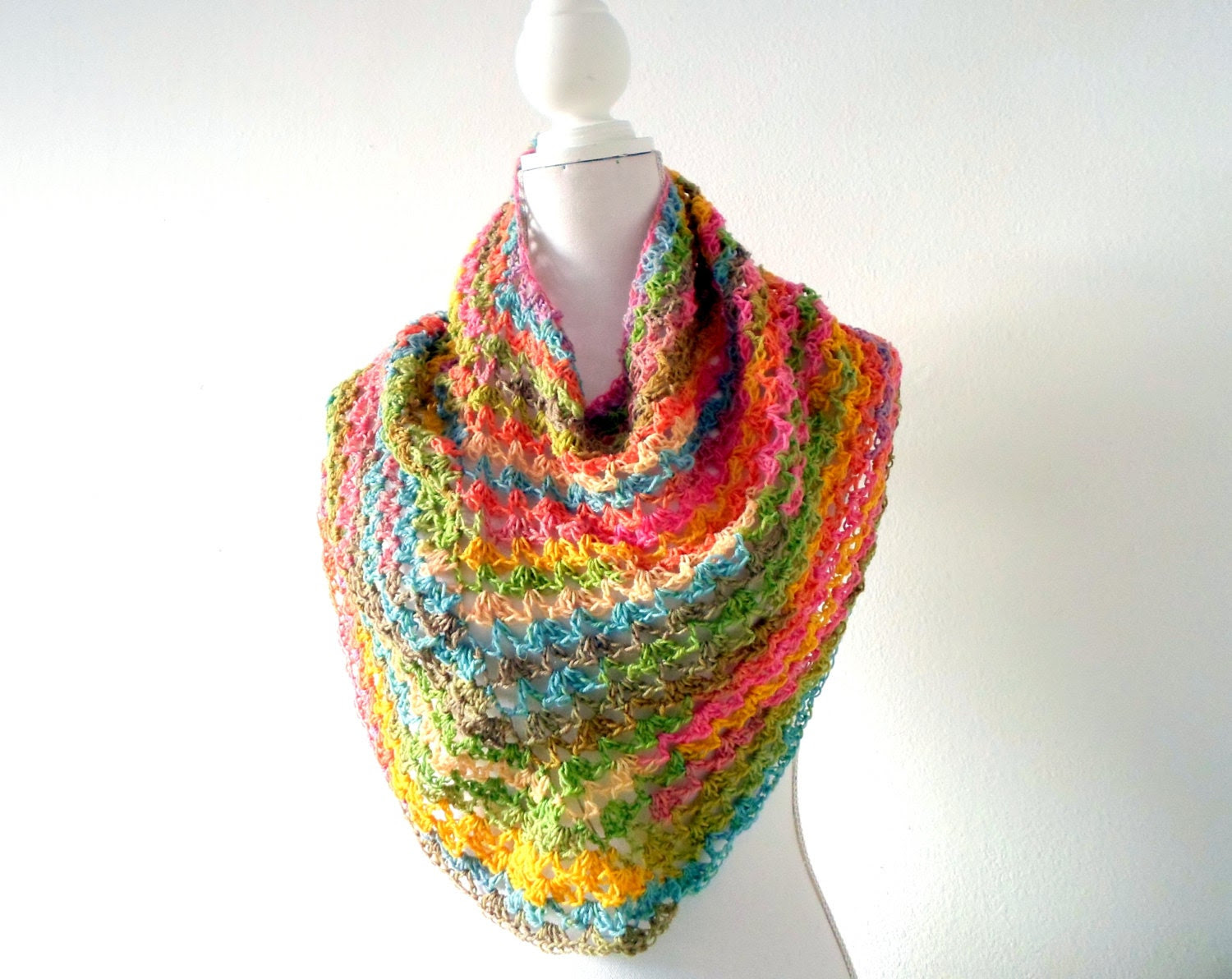 Easy Breezy Ponchette crochet pdf pattern