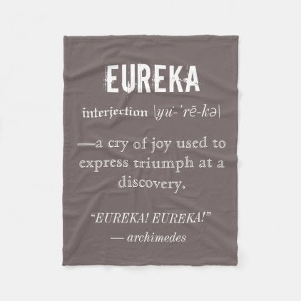 Eureka Definition Archimedes Greek Nerd Fraternity Fleece Blanket
