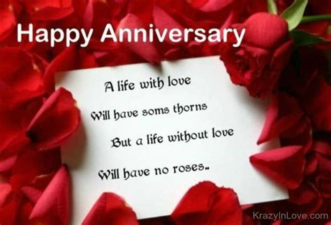 Happy Anniversary Wishes For A Couple With Rose Petals