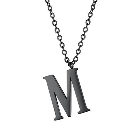 PROSTEEL Initial Letter Necklace, A to Z Trendy Alphabet