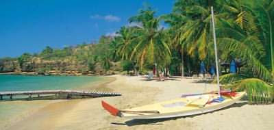 the beach at the Calabash Hotel, Grenada
