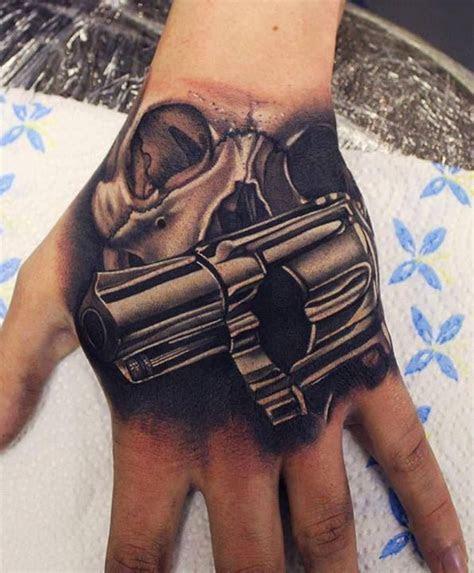 skull gun tattoo tattoos body art ink pinterest