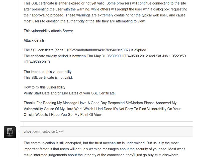 Bug Bounty Gone Wrong Ssl Certificate Invalid Date Vulnerability
