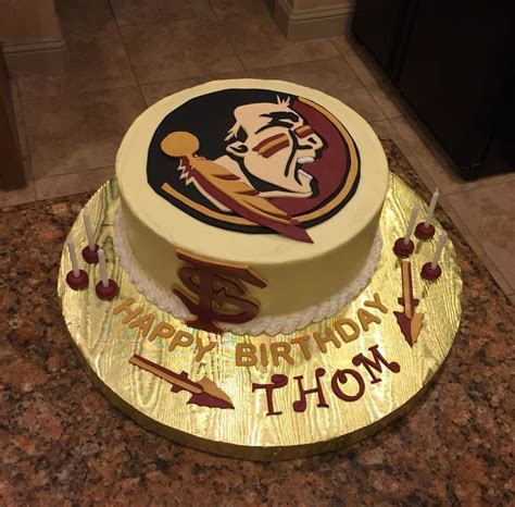 Florida state university cake! Go Seminoles!   My Cakes