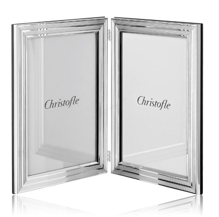 Double Photo Frame L X W 3 78 X 5 78 Filets Christofle