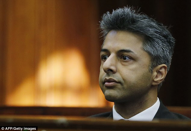 Shrien Dewani today came face to face with Leopold Leisser, the male escort he met on three occasions before his wife Anni Dewani was shot dead on their honeymoon in South Africa in November 2010