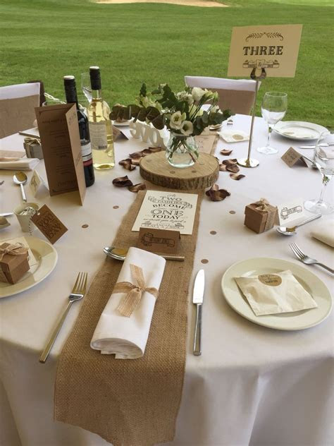 Rustic romance table decor by Fuschia, flowers Ruby and