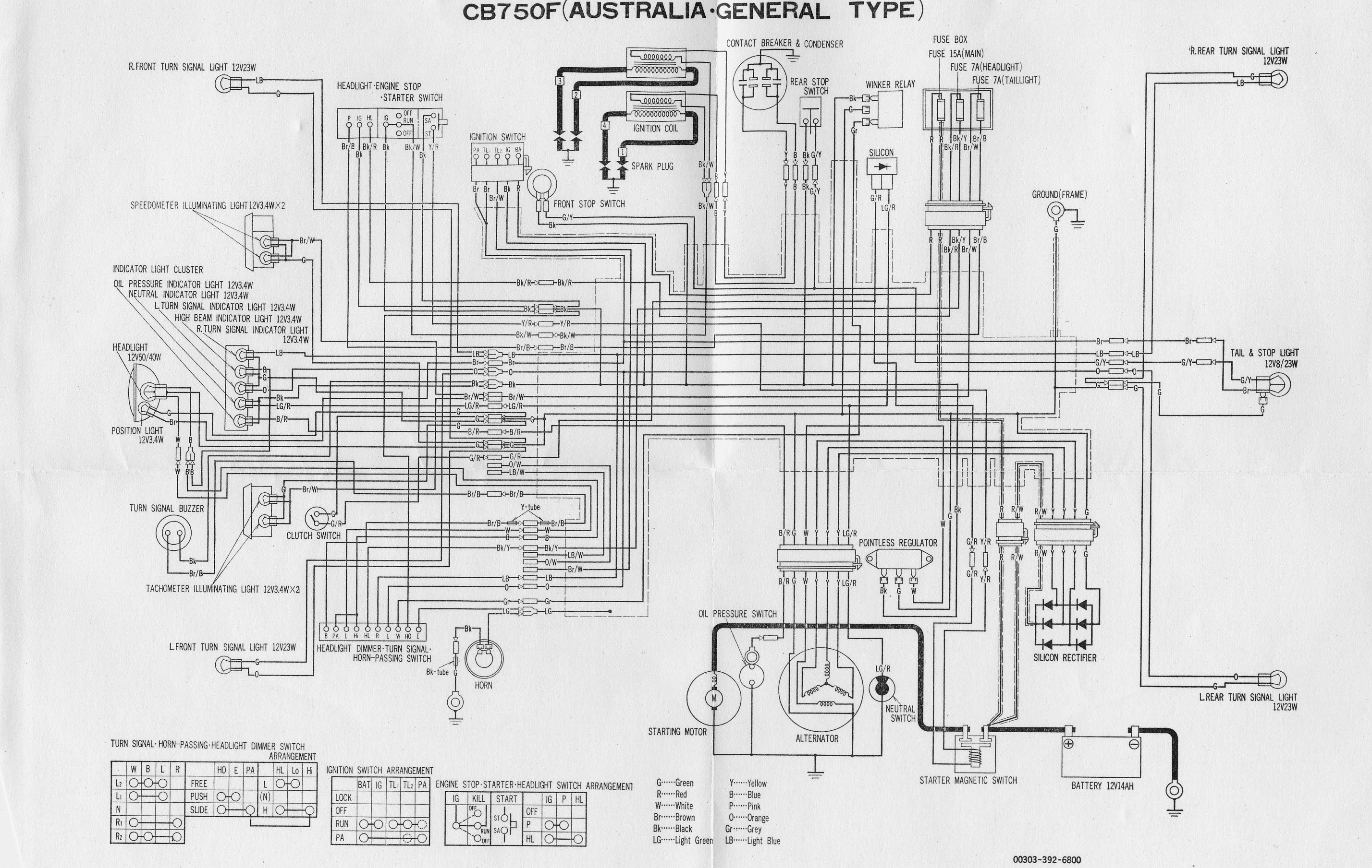 Cb750f Shop Manual Wiring Diagram