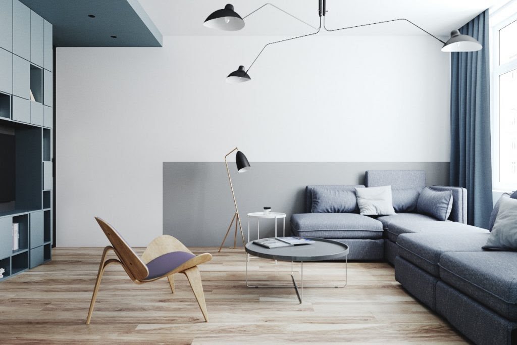Two Small Apartments A Blue Oasis Of Minimalist Living