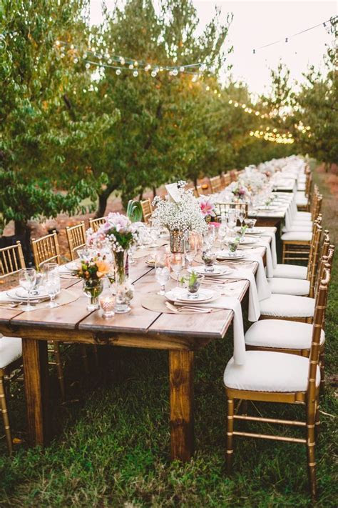 25  best ideas about Long wedding tables on Pinterest