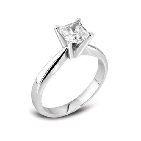 Princess cut 18ct white gold engagement ring 0 50   Wongs