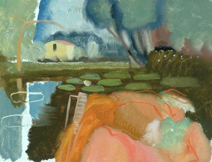 Ivon Hitchens River Scene at Holbrook and Molly in a Boat, c.1938 ✨