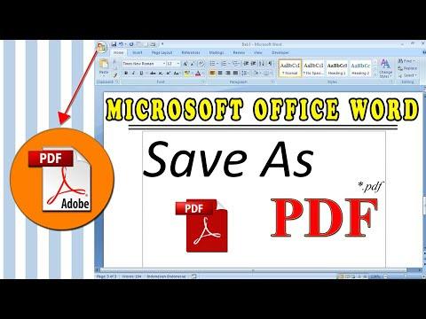 Membuat File Microsoft Office Word Menjadi PDF
