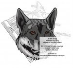 Northern Inuit Dog Intarsia or Yard Art Woodworking Pattern - fee plans from WoodworkersWorkshop® Online Store - Northern Inuit Dogs,pets,intarsia,yard art,painting wood crafts,scrollsawing patterns,drawings,plywood,plywoodworking plans,woodworkers projects,workshop blueprints